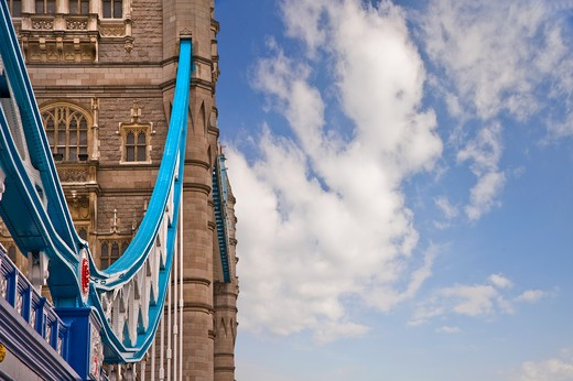 Stock Photo: 4282-16859 England, London, Tower Bridge. Tower Bridge over the River Thames, one of London's most iconic landmarks.