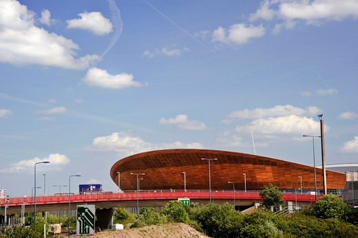 Stock Photo: 4282-17065 England, London, Stratford. The Velodrome in Olympic Park, completed in February 2011, will host the track cycling events at the London 2012 Olympic and Paralympic Games.