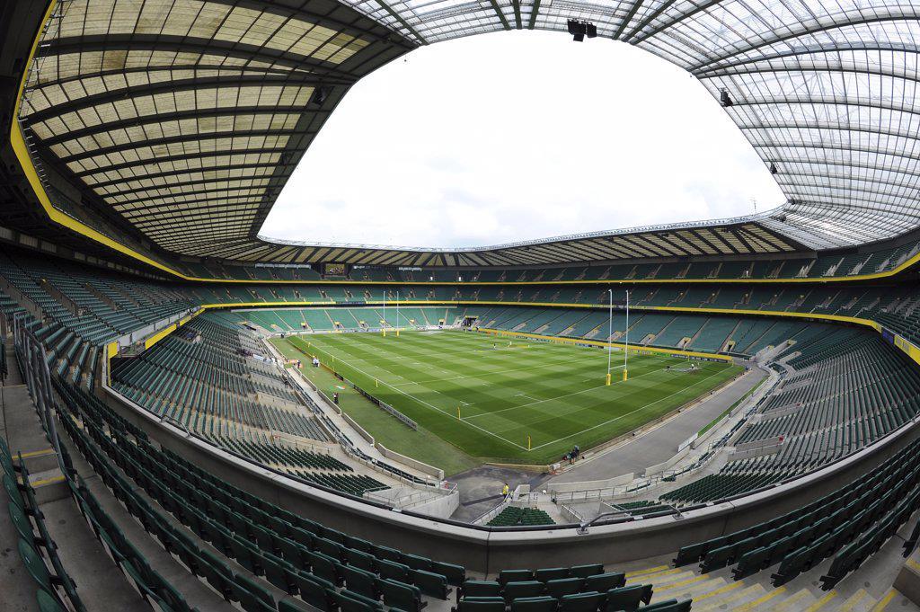 Stock Photo: 4282-18989 England, London, Twickenham. Inside Twickenham Stadium, the home of England rugby.