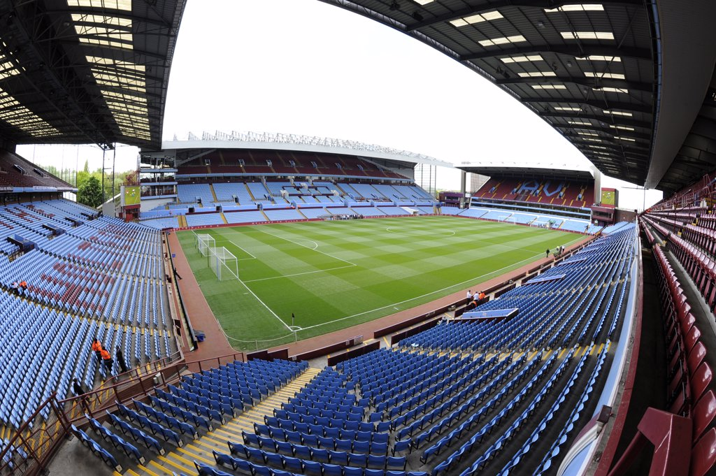 Stock Photo: 4282-19009 England, West Midlands, Birmingham. Inside Villa Park Stadium, home of Aston Villa Football Club.
