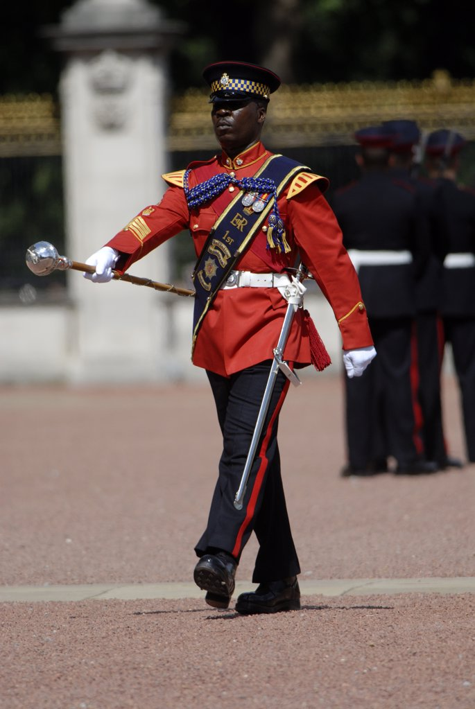 Stock Photo: 4282-21502 England, London, Buckingham Palace. Changing of the Guard ceremony at Buckingham Palace.