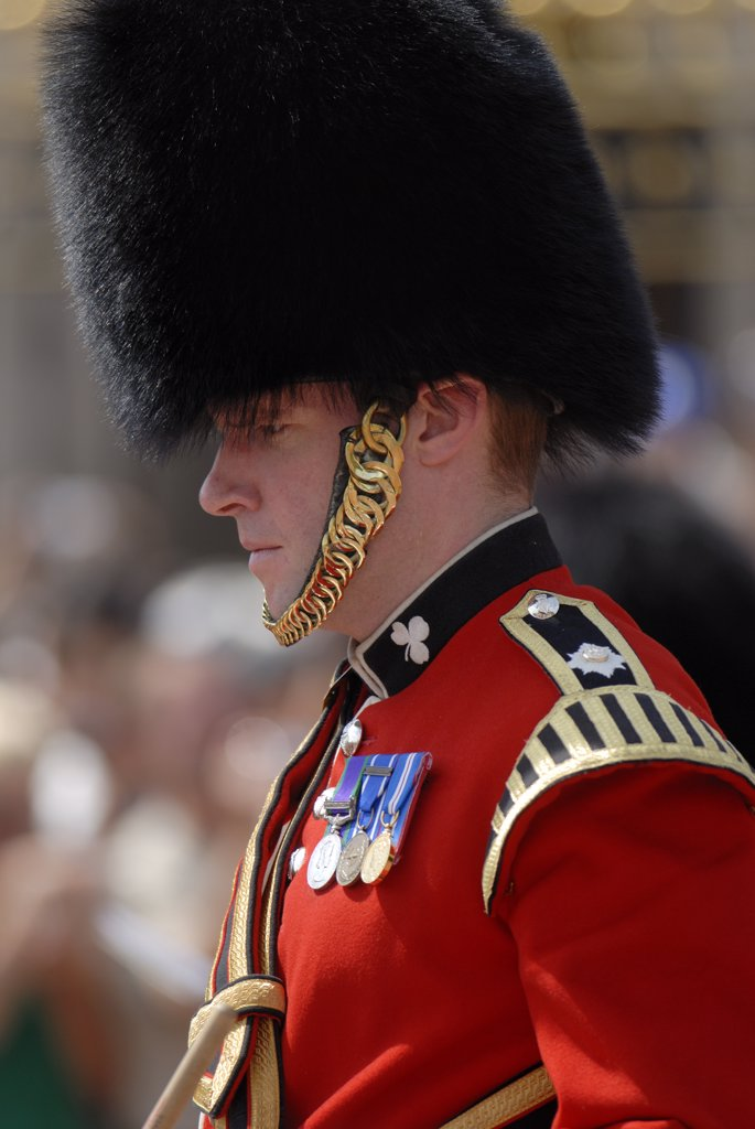 Stock Photo: 4282-21507 England, London, Buckingham Palace. Changing of the Guard ceremony at Buckingham Palace.