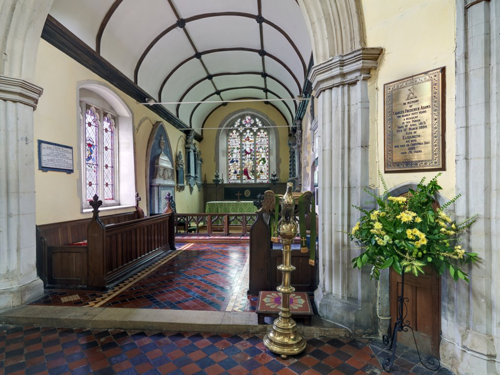 Stock Photo: 4282-22275 England, Hertfordshire, Barkway. The interior of St. Mary Magdalene Church in Barkway.