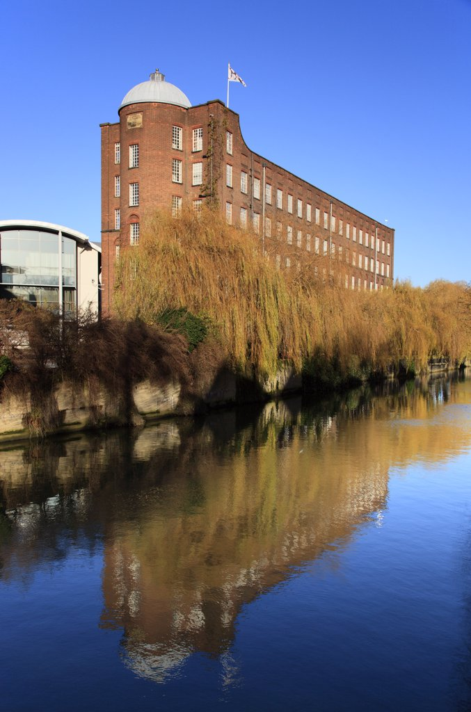 Stock Photo: 4282-22488 England, Norfolk, Norwich. St James Mill by the banks of the river Wensum in Norwich.
