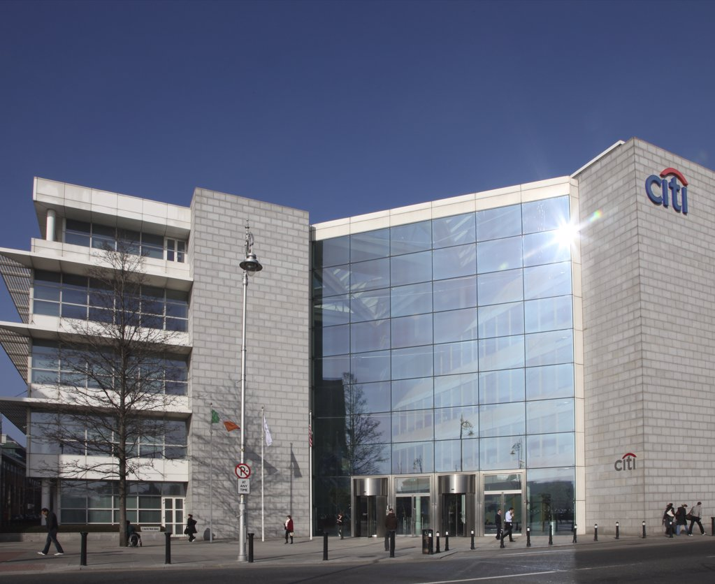 Stock Photo: 4282-22872 Republic of Ireland, Dublin, Dublin. The Citibank Dublin headquarters in the International Financial Services Centre (IFSC).