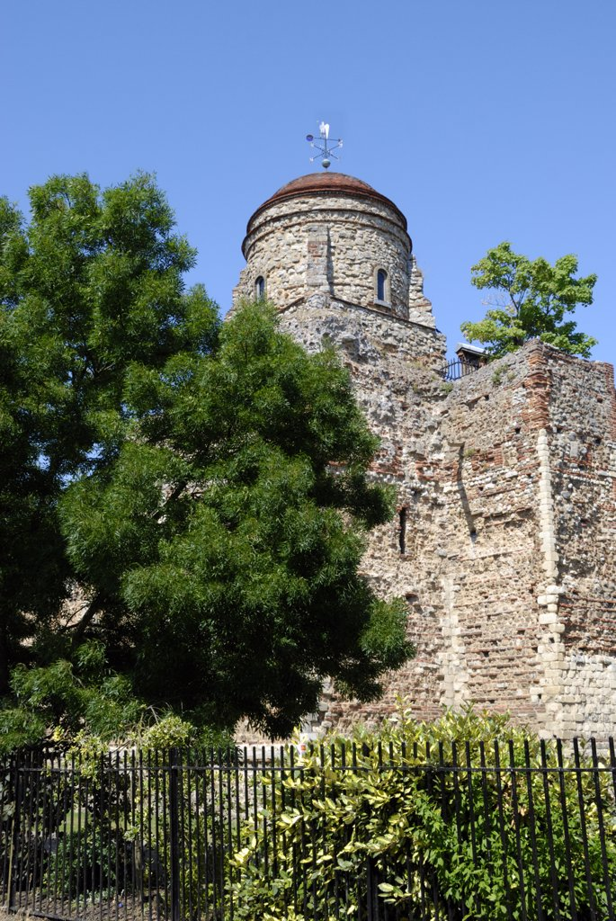 Stock Photo: 4282-23189 England, Essex, Colchester. Colchester Castle is now a public museum showing Colchester's history from the Stone Age to the Civil War. It is an almost complete Norman castle completed around 1100.