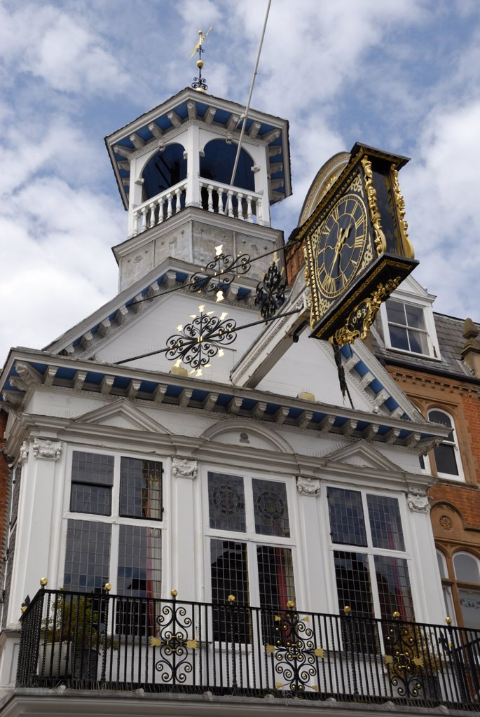 England, Surrey, Guildford. The Elizabethan Guildhall in Guildford. : Stock Photo