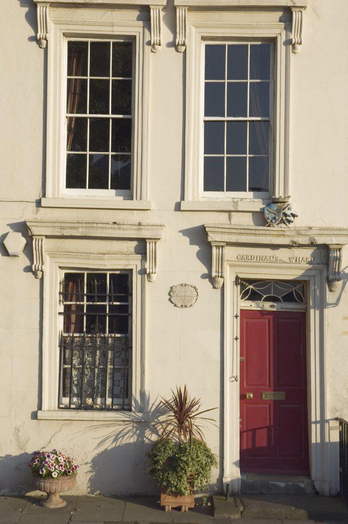 Stock Photo: 4282-24113 England, London, Bankside. The facade of a 17th Century house at Cardinalís Wharf.