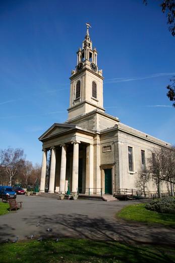 England, London, Bermondsey. Exterior of St James Church in Bermondsey. : Stock Photo