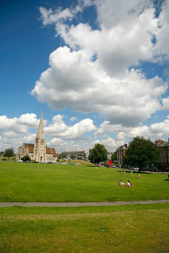 England, London, Blackheath. All Saints Church and Royal Parade at Blackheath Vale. : Stock Photo