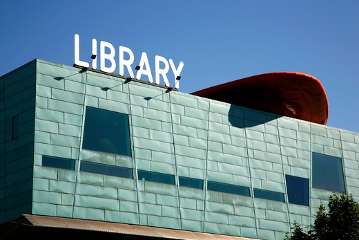 England, London, Peckham. Exterior of Peckham Library. : Stock Photo