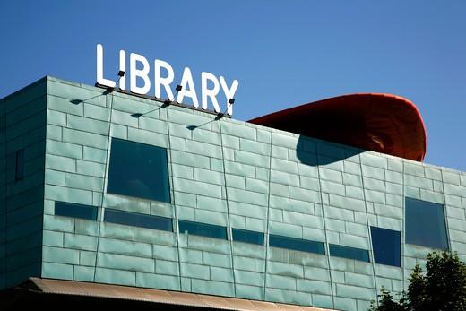 England, London, Peckham. Exterior of Peckham Library. : Stock Photo