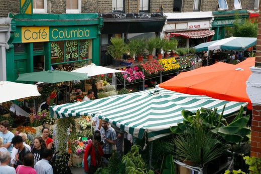 England, London, Bethnal Green. Columbia Road flower market in Bethnal Green. : Stock Photo