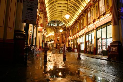 England, London, Leadenhall Market. Leadenhall Market in the City of London. : Stock Photo