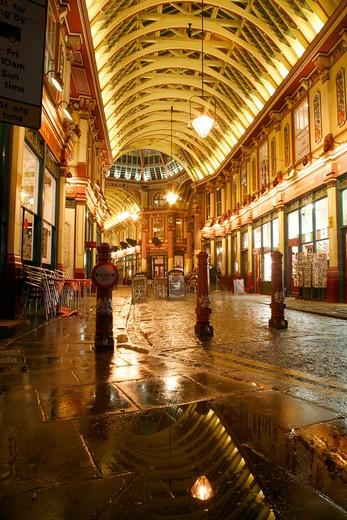 Stock Photo: 4282-24739 England, London, Leadenhall Market. Leadenhall Market in the City of London.