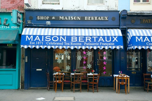 England, London, Soho. The Maison Bertaux patisserie on Greek Street in Soho. : Stock Photo