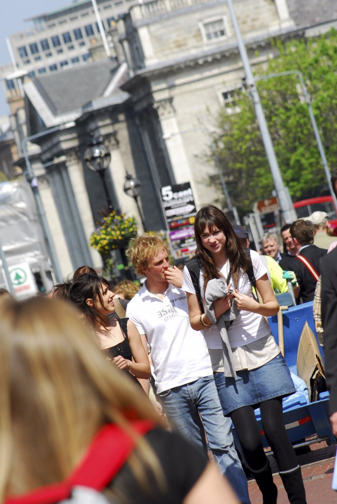 Stock Photo: 4282-25319 Republic of Ireland, Dublin, Grafton Street. Crowds of shoppers at Grafton Street in Dublin
