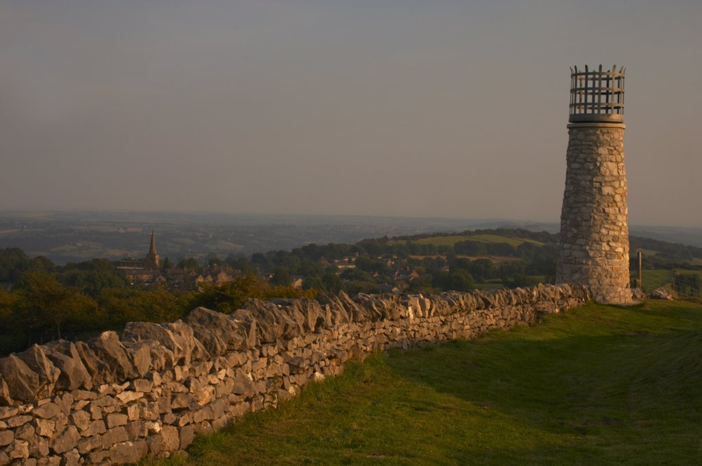 Stock Photo: 4282-26818 England, Derbyshire, Crich. The beacon at the site of Crich Memorial Tower.