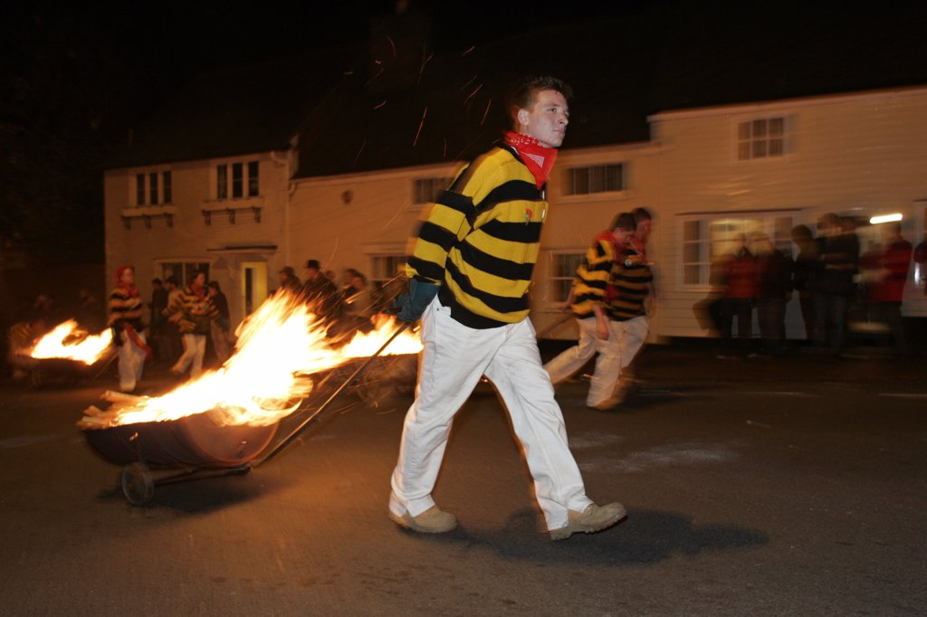 Stock Photo: 4282-27153 England, East Sussex, Lewes. Lewes Bonfire Night Parade.