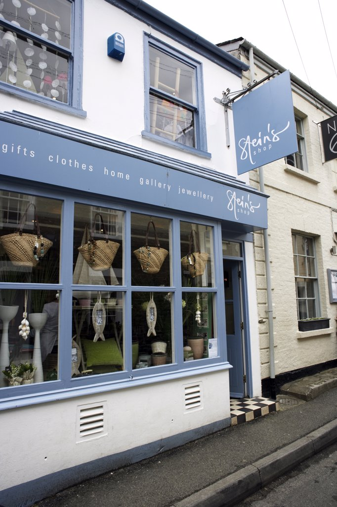 Stock Photo: 4282-27777 England, Cornwall, Padstow. Exterior of Rick Stein's Shop in Padstow.