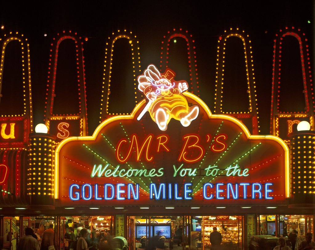 Stock Photo: 4282-2892 England, Lancashire, Blackpool. The Golden Mile Centre.