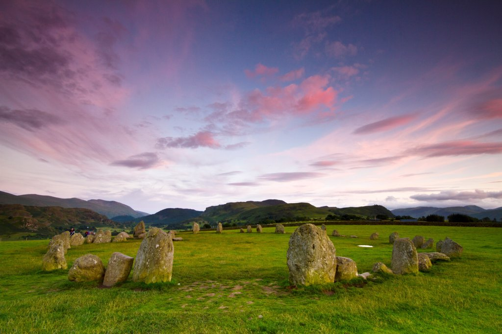 Stock Photo: 4282-31155 England, Cumbria, Keswick. Castlerigg Stone Circle near Keswick.