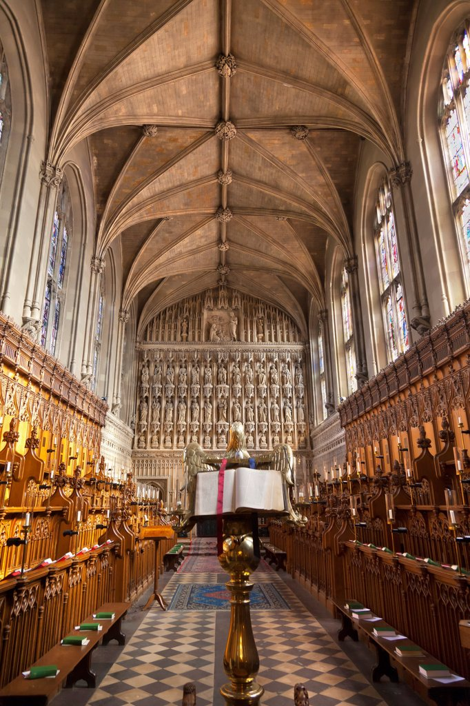 Stock Photo: 4282-31522 England, Oxfordshire, Oxford. Interior of the chapel of Magdalen College in Oxford.