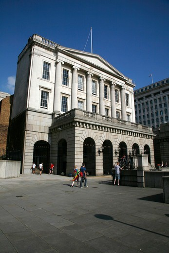 Stock Photo: 4282-32661 England, London, City of London. Fishmongers Hall on the banks of the river Thames.