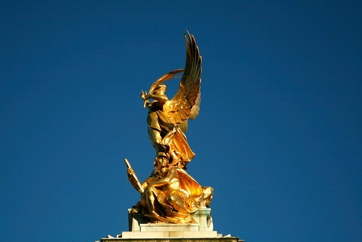 Stock Photo: 4282-32777 England, London, St James's. Queen Victoria Memorial on Buckingham Palace Forecourt on St James's.