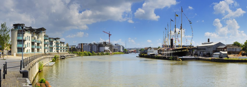 Stock Photo: 4282-4714 England, Bristol, Bristol. Isambard Kingdom Brunel's SS Great Britain in it's final resting place, the Great Western Dockyard in Bristol.