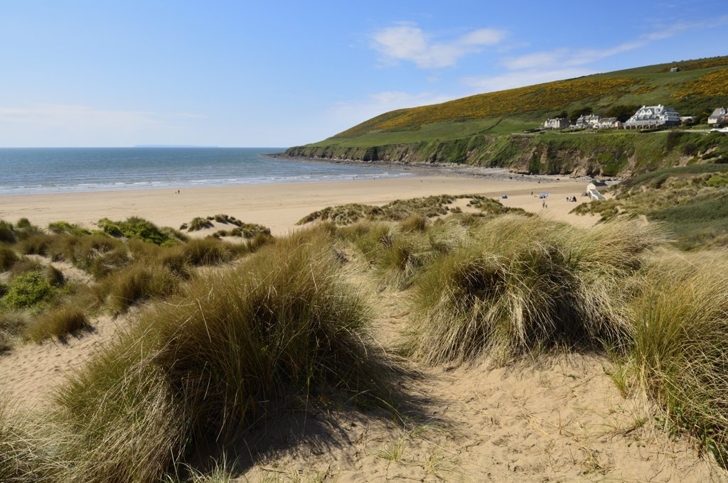 Stock Photo: 4282-5150 England, Devon, Braunton. Braunton Burrows sand dunes at Saunton near Braunton on the North Devon coast.
