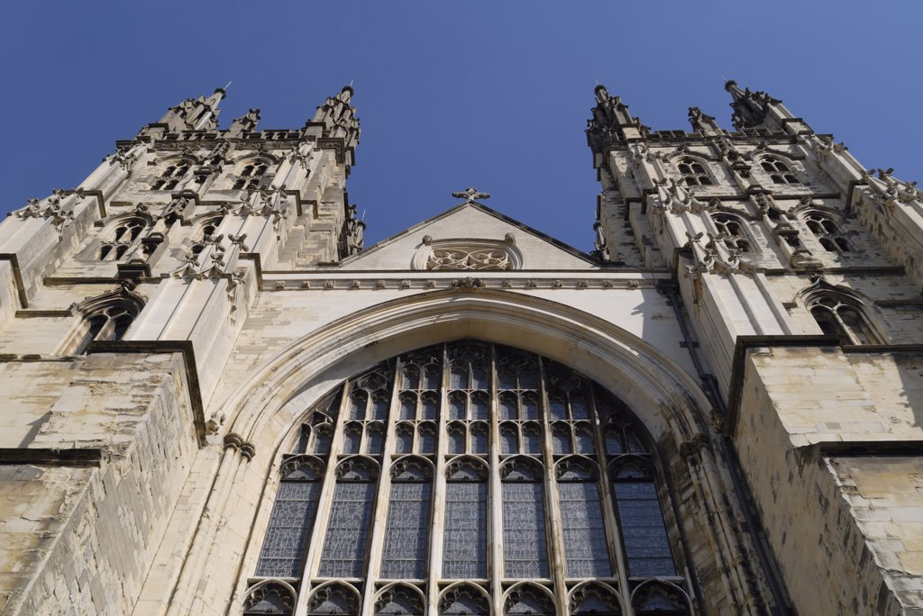 Stock Photo: 4282-7252 England, Kent, Canterbury . Exterior of Canterbury Cathedral.
