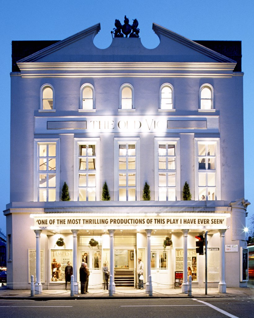 Stock Photo: 4282-7392 England, London, Waterloo. The Old Vic Theatre near Waterloo in London.