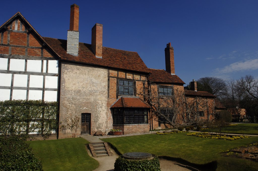Stock Photo: 4282-9255 England, Warwickshire, Stratford upon Avon. New Place which was the site of the house where William Shakespeare died in Stratford upon Avon.