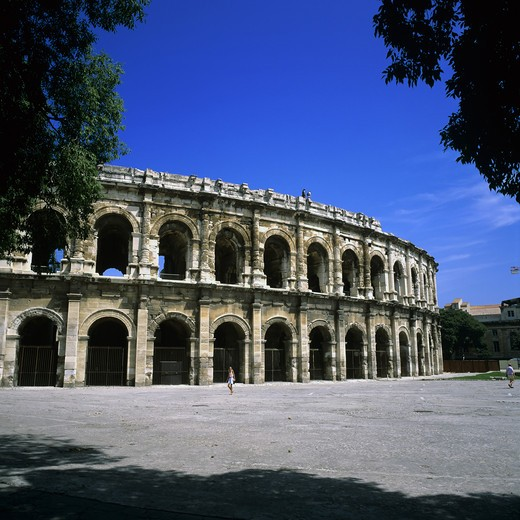 Stock Photo: 4285-10261 ROMAN ARENAS NIMES PROVENCE FRANCE
