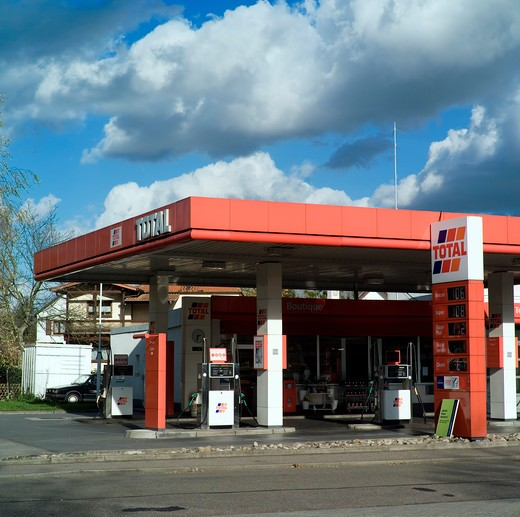 germany total car gas station : Stock Photo