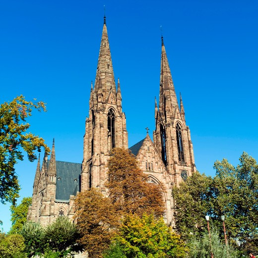 saint-paul church strasbourg alsace france : Stock Photo
