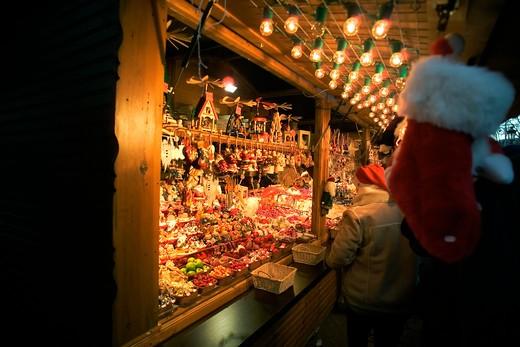 Stock Photo: 4285-11580 christkindelsmarik christmas market strasbourg alsace france
