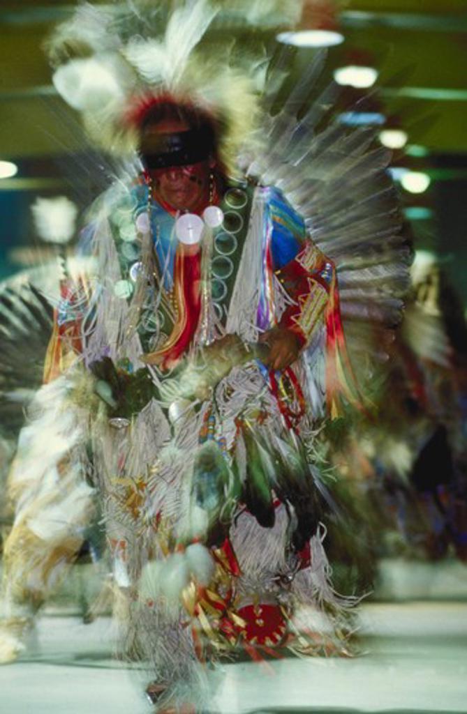 Stock Photo: 4285-1249 Men?s Traditional Dance, N. Largo, Albuquerque Powwow