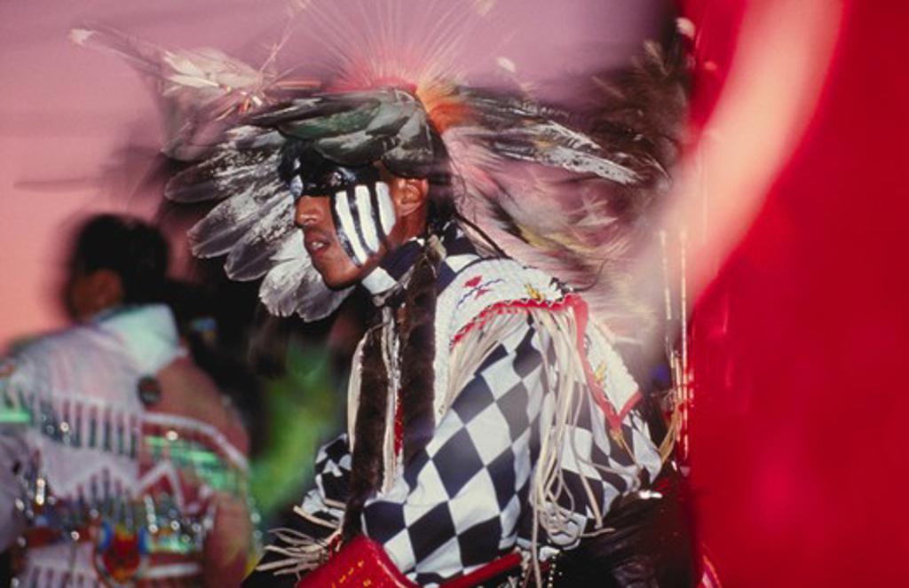 Stock Photo: 4285-1251 Dancer at Powwow