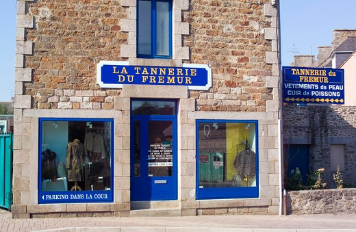 Stock Photo: 4285-12761 la tannerie du fremur fish leather tannery ploubalay brittany france