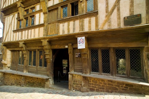 Stock Photo: 4285-12867 maison du gouverneur mansion 15th century dinan brittany france