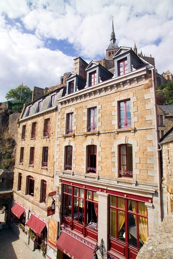 Stock Photo: 4285-12954 la mere poulard restaurant mont-st-michel normandy france