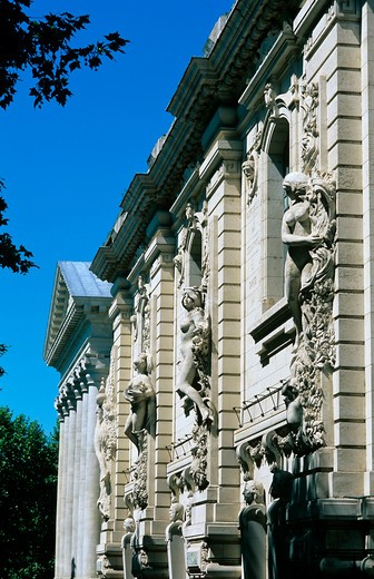 Stock Photo: 4285-13243 beaux-arts art academy facade toulouse france