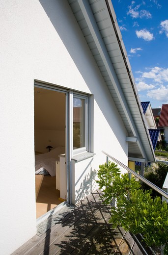 Stock Photo: 4285-14407 PR HOUSE'S ROOF TERRACE BADEN-WšRTTEMBERG GERMANY