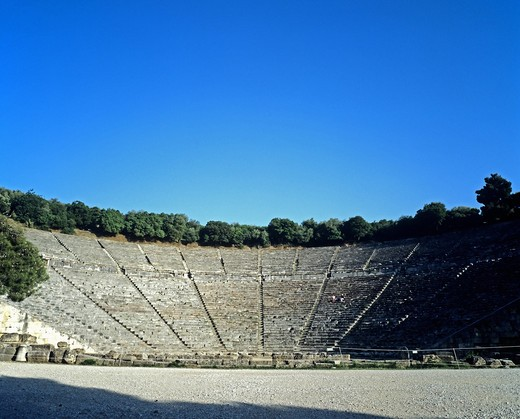 Stock Photo: 4285-14887 ANTIQUE THEATRE OF EPIDAURUS PELOPONNESE GREECE