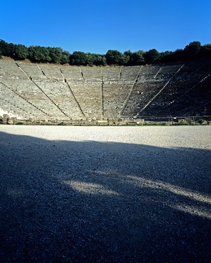 Stock Photo: 4285-14888 ANTIQUE THEATRE OF EPIDAURUS PELOPONNESE GREECE