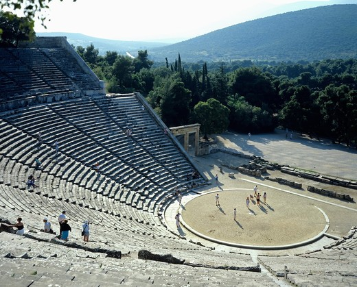 Stock Photo: 4285-14891 ANTIQUE THEATRE OF EPIDAURUS PELOPONNESE GREECE