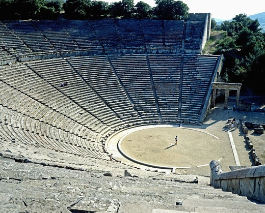 Stock Photo: 4285-14893 ANTIQUE THEATRE OF EPIDAURUS PELOPONNESE GREECE
