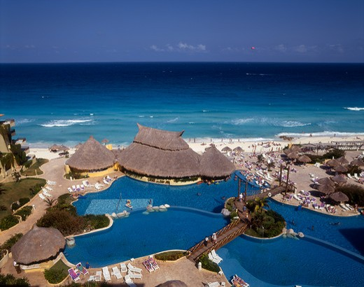 Stock Photo: 4285-16547 Fiesta Americana Condesa Resort at Cancun, Quintana Roo, Yucatan Peninsula in Mexico
